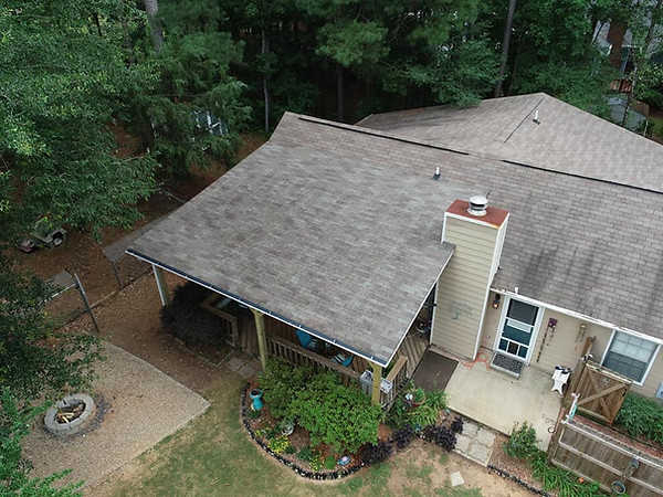 Drone Shot of a Brand New Roof Build