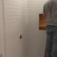 Beautiful White Tile Install