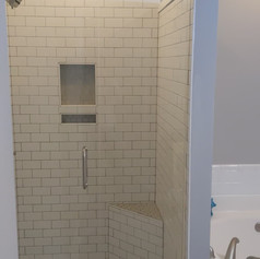 Tile Shower Install with Kerdi-Board Bench