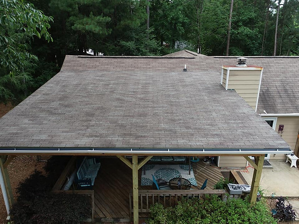 Finished Roof Built Over A Deck