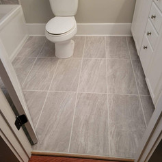 New Tile Flooring to Match the Shower