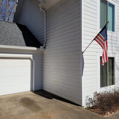 Before Photo of the Garage Addition
