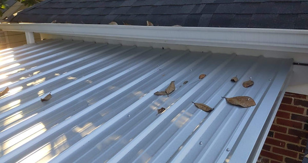 New Metal Roofing over a Deck
