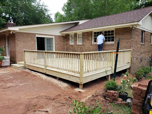 Final Deck Build in Watkinsville, Ga