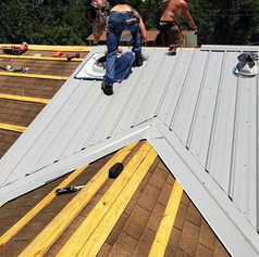 Working on a Metal Roof