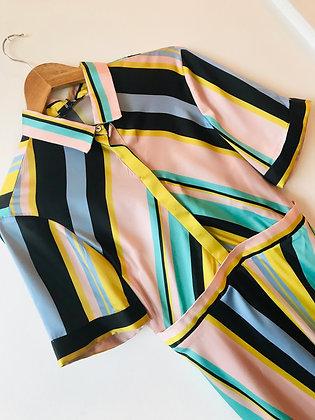 Bold Stripe Midi Dress