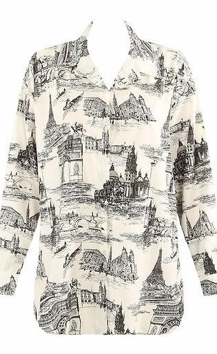 Oriental Print (Black) Shirt