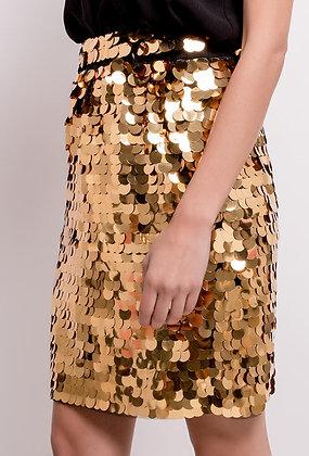 Gold Disco Skirt