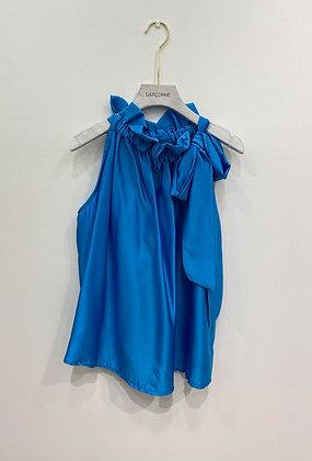 Blue Ribbon Tie Top