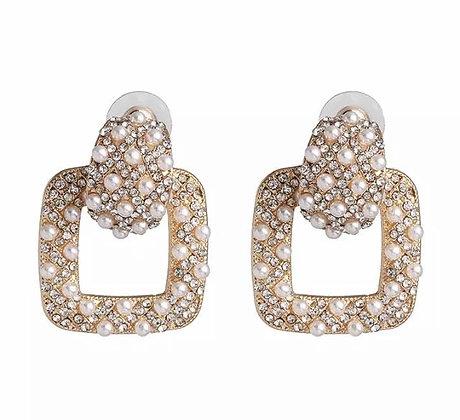 London Pearl & Crystal Earrings
