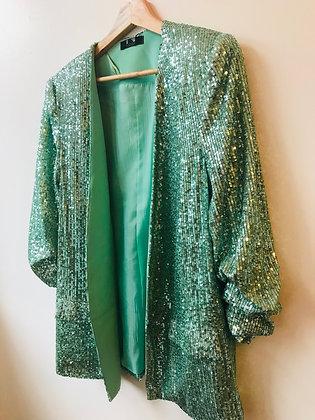 Mint Green Sequin Blazer