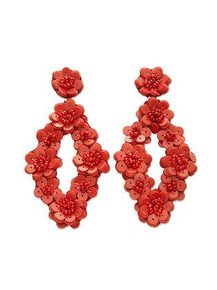 Red Sequin Earrings