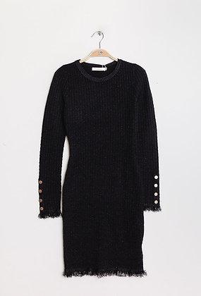 Black Sparkle Knit Dress