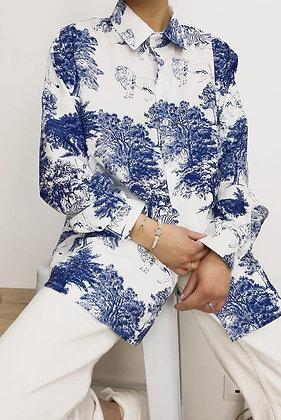 Oriental Print (Blue) Shirt