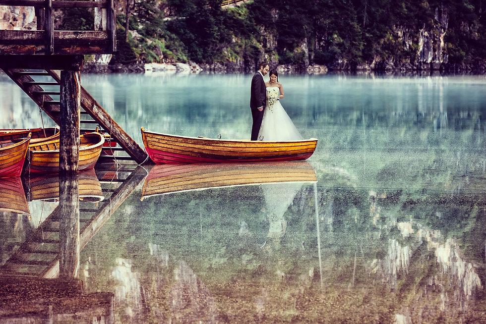 David photographer wedding Lago di Braie