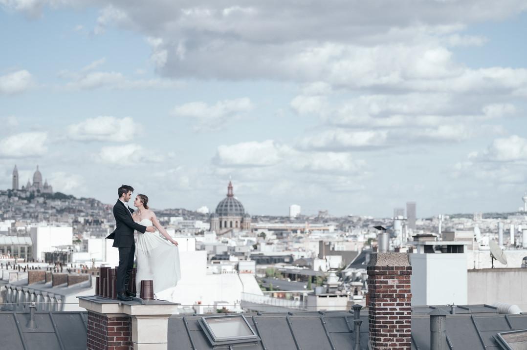 Wedding DavidZ Photographer Rooftop Pari