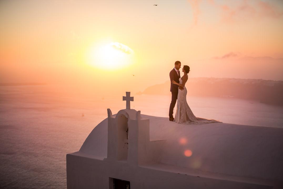 photographe de mariage à Santorin