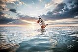 Day After, Trash the dress dans l'eau, photo de mariage sur la plage