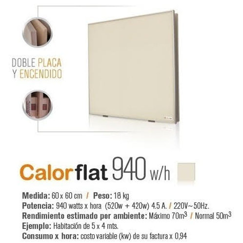 Panel Calefactor Calorflat 940w (5420w+420w) Beige Linea Elegance