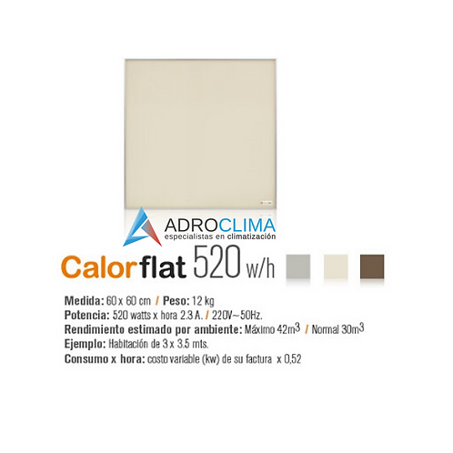 Placa Calefactor Calorflat  520w  Beige Linea Elegance