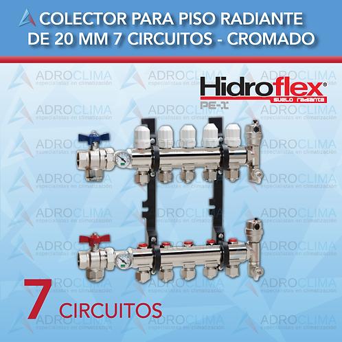 Colector Completo de 7 Circuitos Hidroflex Luxus Cromo