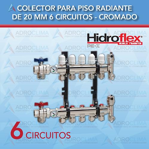Colector Completo de 6 Circuitos Hidroflex Luxus Cromo