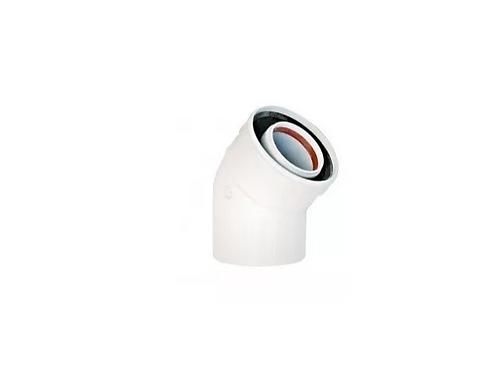 Codo 45º Para Vent Caldera Ariston Condensacion 60/100