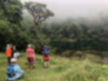 Students at Costa Rican rainforest lake