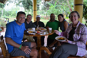 Travelers in Costa Rica homestay