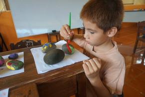 Painting Rocks in La Flor