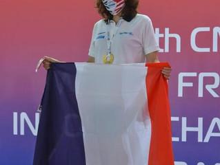 """Médaille d'Or d'apnée statique pour Sylvie Gilson à 8'06"""""""