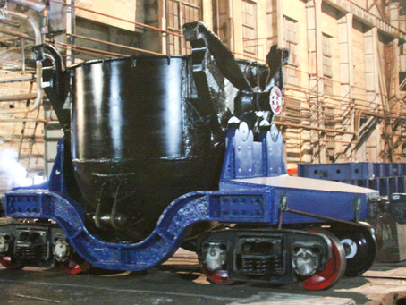 Hot Metal Ladle Car Is Ready for Shipment to Zaporizhstal