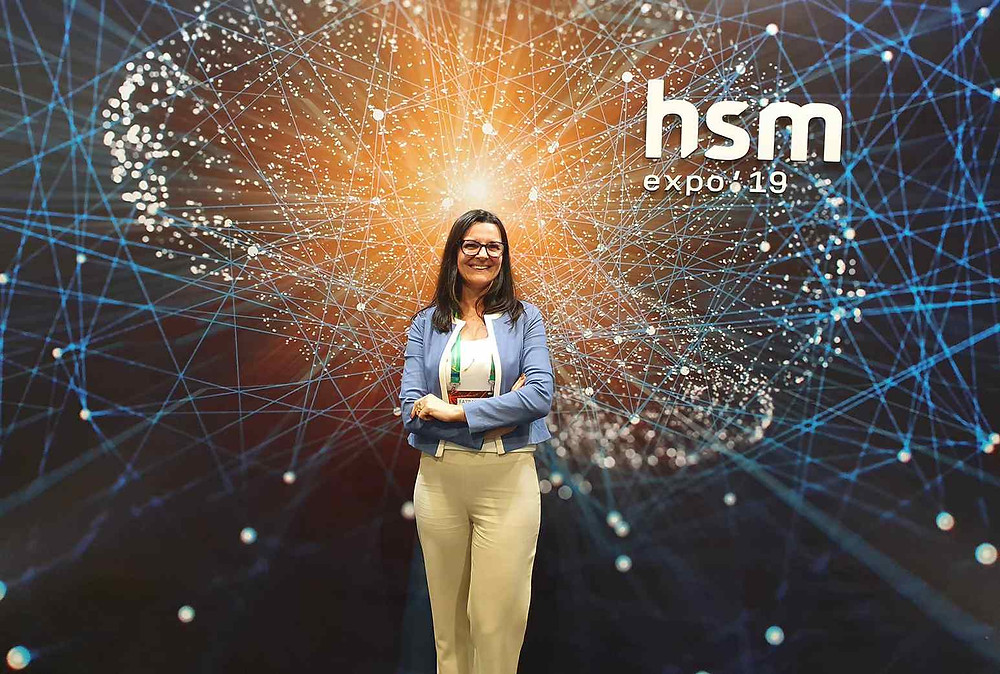 Fátima Macedo representando a Mental Clean, na HSM Expo19