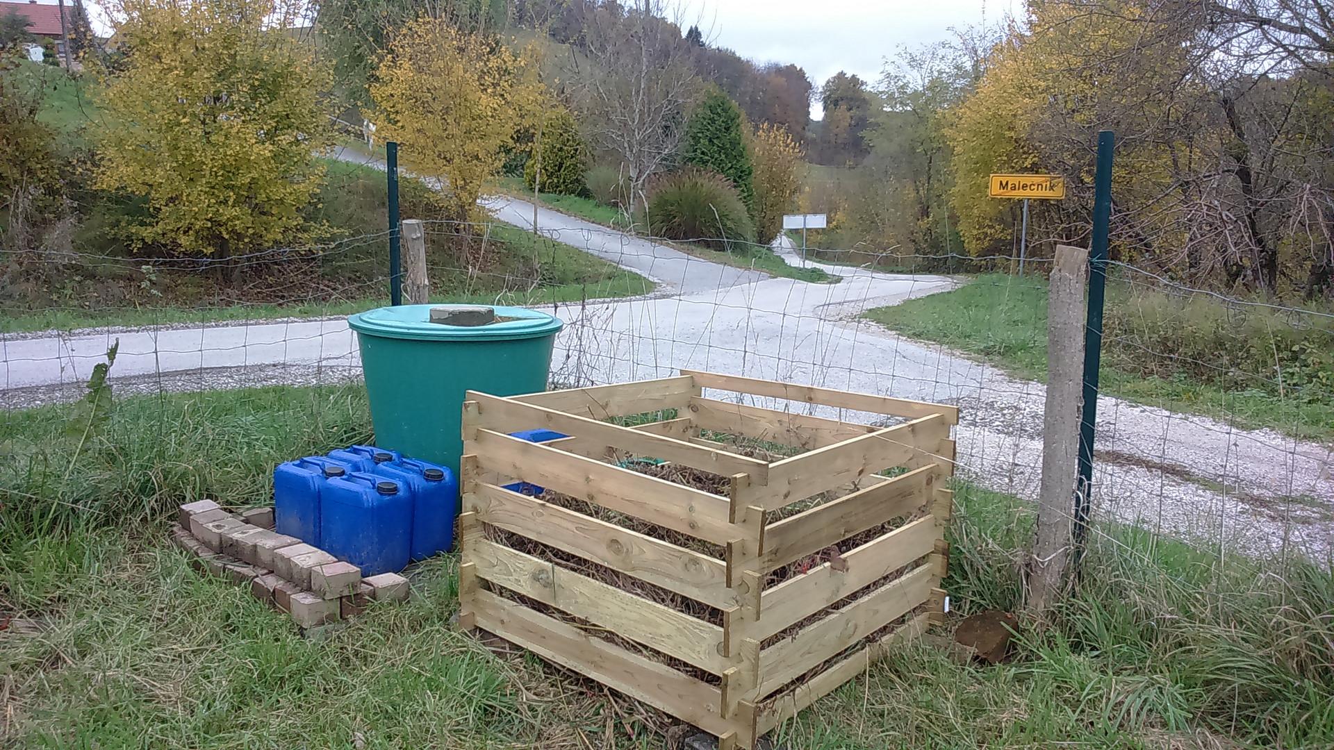 voda - kompost
