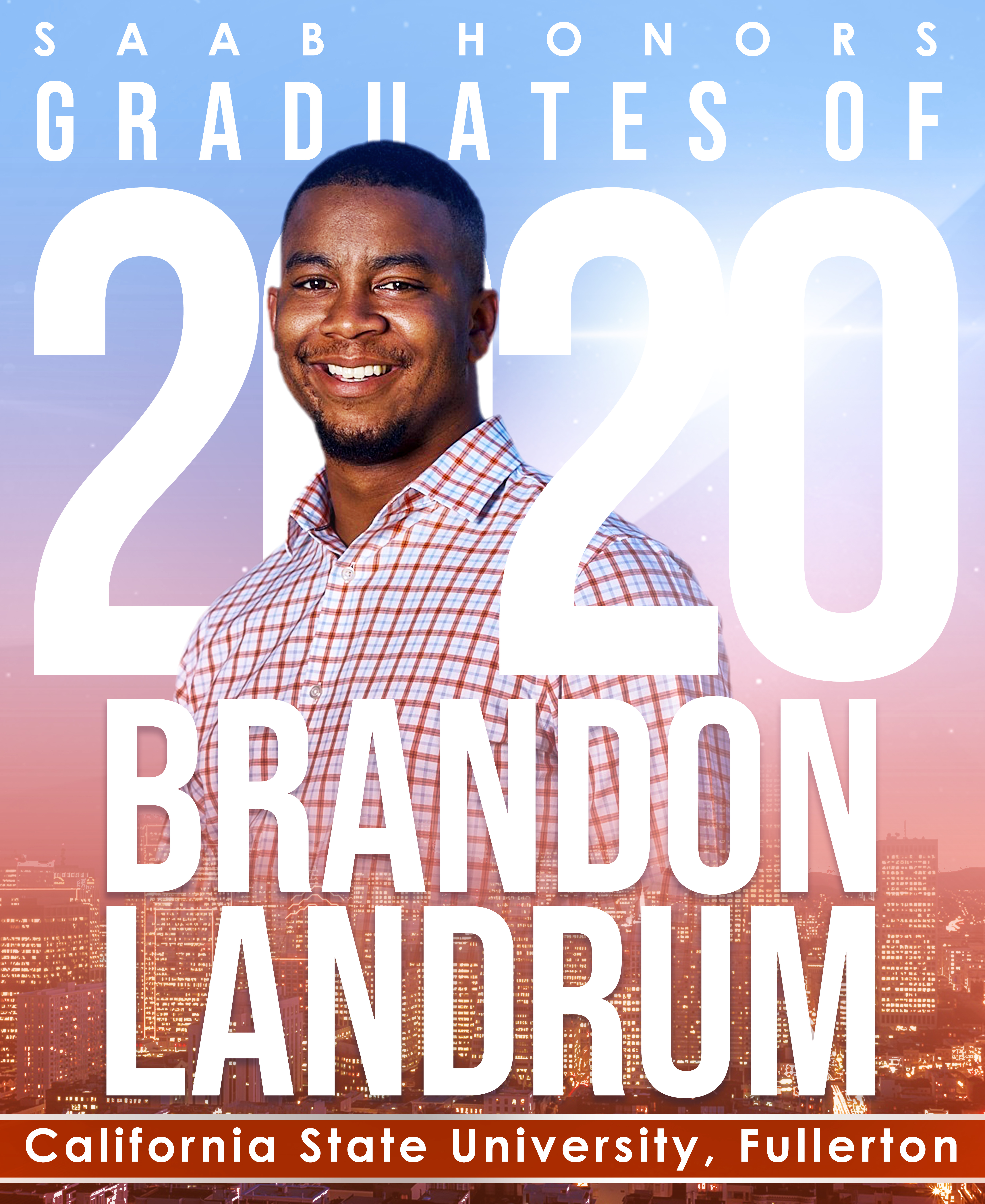 Brandon Landrum 2020 Graduation
