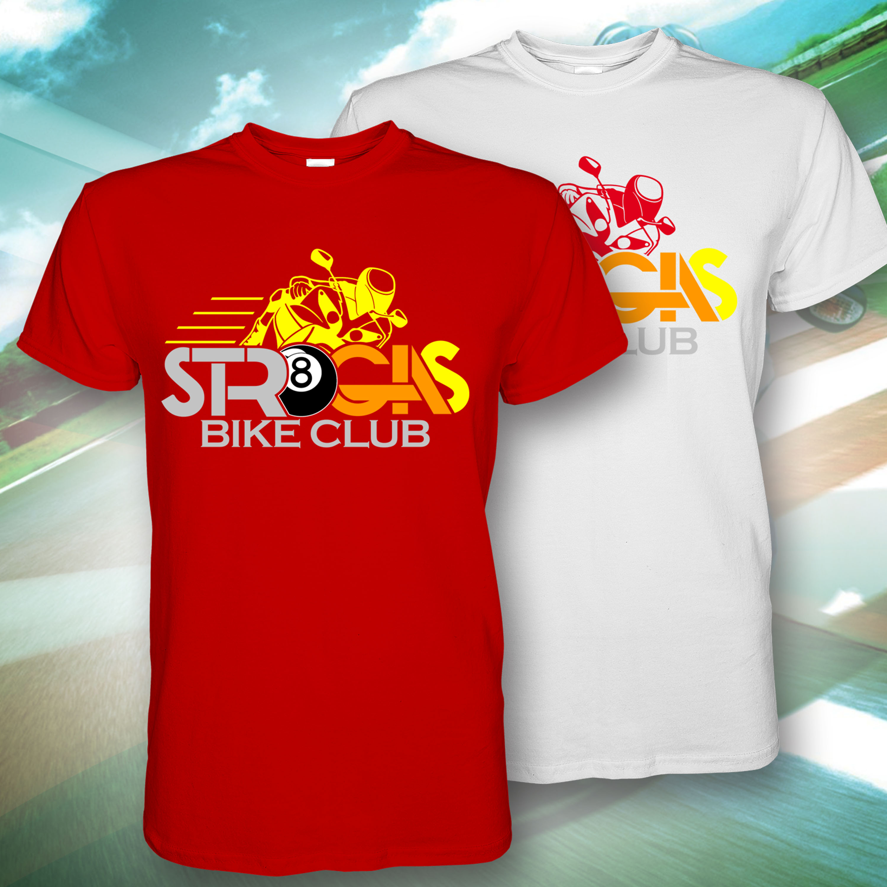 STR8 Gas Bike Club Design