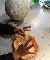 Sculpture Oeuf en plâtre