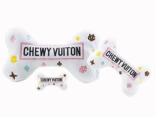 White Chewy Vuiton Bone Toys - XL