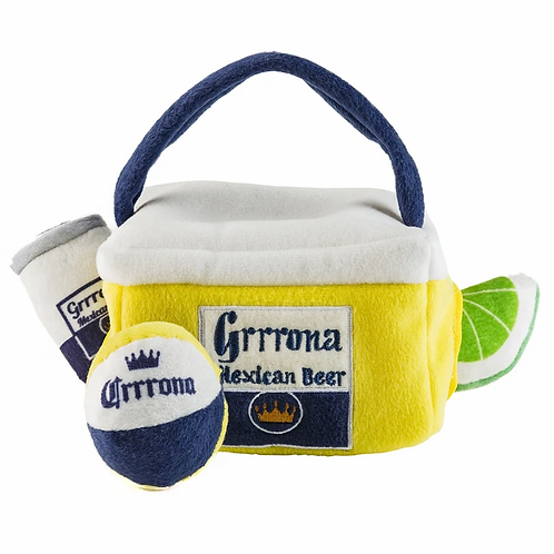 Grrona Beer (Cooler & 3 toys- can, lime & ball)
