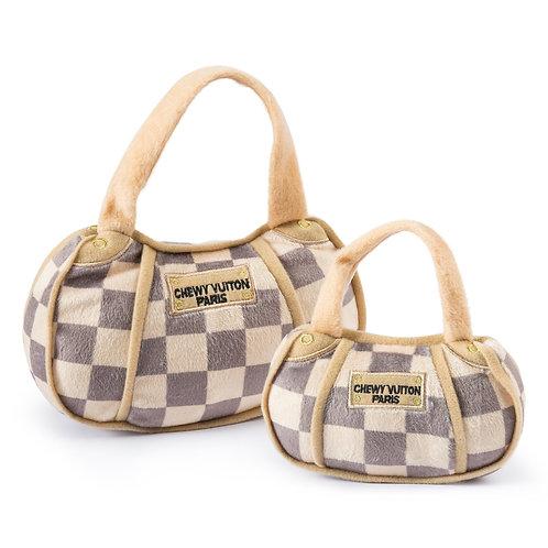 Checker Chewy Vuiton Purse Toy - XL