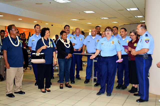 Palau Delegation Receives Warm Welcome In Guam