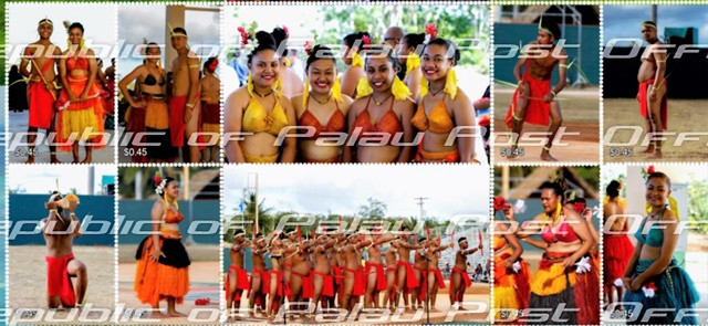 New Palau Stamps Commemorate Youth In Sports And Culture