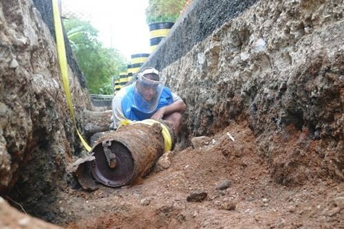550-lb WWII Bomb Found At Palau Water Project Site