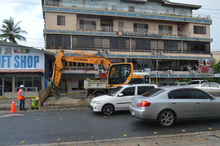 Koror Is Dotted With Construction Projects, Hence The Busy Streets