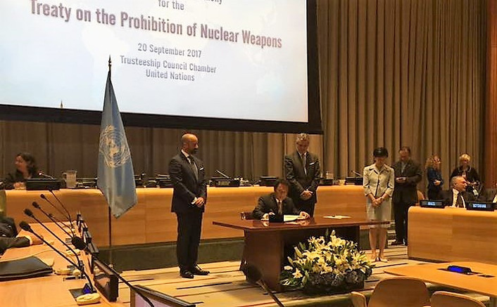 Palau Signs Nuke Ban Treaty, but U.S. Nuclear Devices Allowed