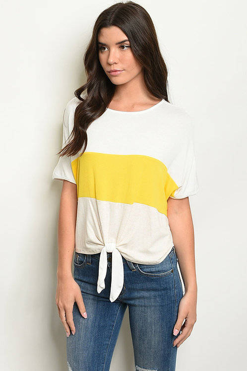 The Ava Color Block Top