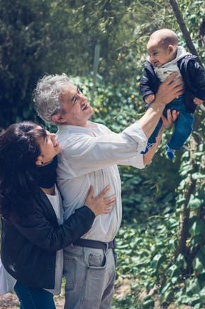 Sesión familiar exterior Quito
