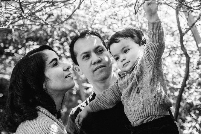 Sesión familiar auténtica exterior Quito