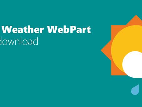 Free Weather WebPart