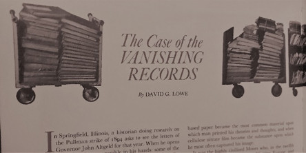 The Case of the Vanishing Records